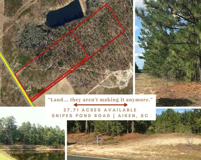 Parcel B Snipes Pond Road, AIKEN, SC 29805 (MLS #100270) :: Shannon Rollings Real Estate