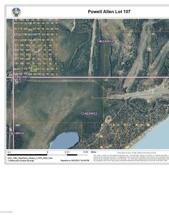 No road Lot 107 Powell Allen, Wasilla, AK 99654 (MLS #17-16501) :: Real Estate eXchange