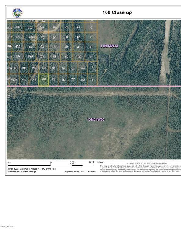No Road Lot 108 Powell Allen, Wasilla, AK 99654 (MLS #17-16504) :: Real Estate eXchange