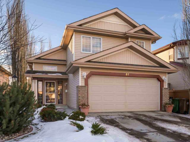 81 Norris Crescent, St. Albert, AB T8N 7M5 (#E4093569) :: The Foundry Real Estate Company