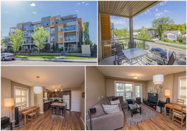 208 8515 99 Street, Edmonton, AB T6E 3T7 (#E4111472) :: GETJAKIE Realty Group Inc.