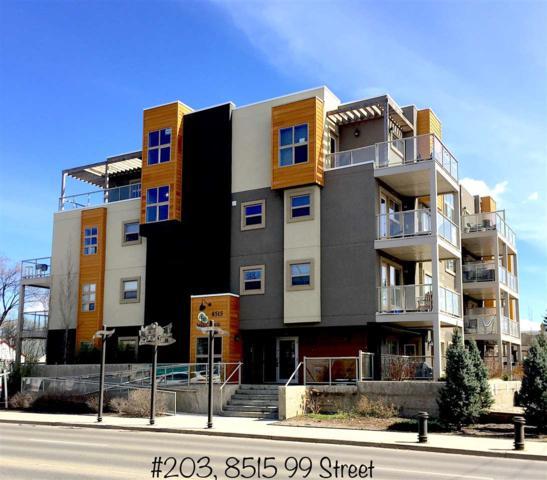 203 8515 99 Street, Edmonton, AB T6G 1E4 (#E4125165) :: GETJAKIE Realty Group Inc.
