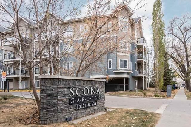 111 10121 80 Avenue, Edmonton, AB T6E 0B9 (#E4218577) :: Initia Real Estate