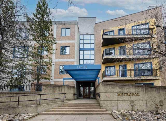403 11415 100 Avenue, Edmonton, AB T5K 0J5 (#E4238408) :: RE/MAX River City