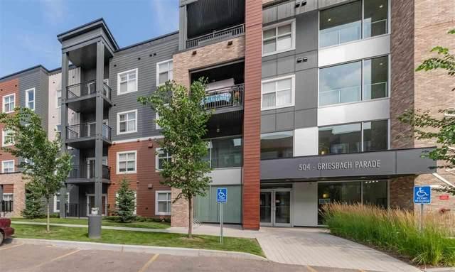 304 504 Griesbach Parade, Edmonton, AB T5E 6V9 (#E4243228) :: Initia Real Estate