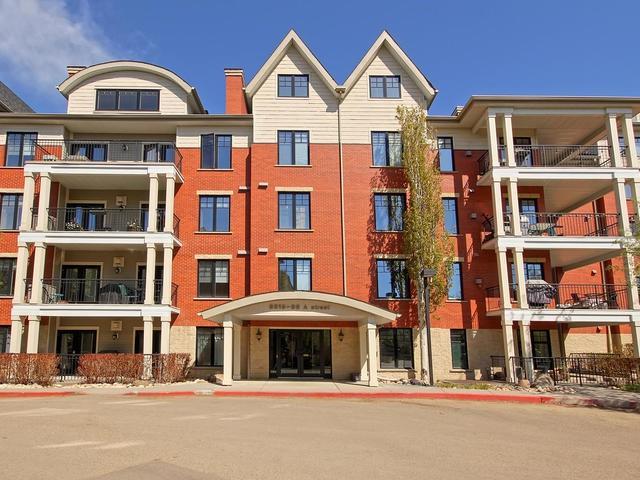 305 9819 96A Street, Edmonton, AB T6A 4A2 (#E4109837) :: GETJAKIE Realty Group Inc.