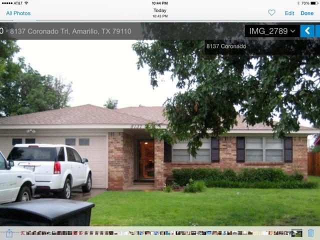 8137 Coronado Trl, Amarillo, TX 79110 (#19-5265) :: Keller Williams Realty