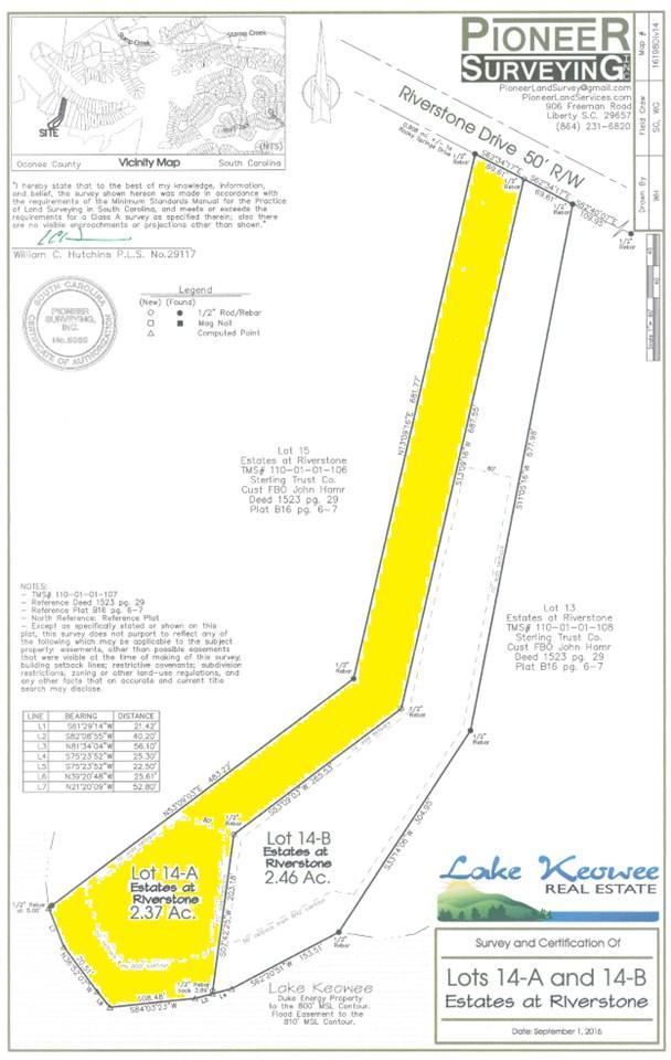 Lot 14 A Estates At Riverstone, Salem, SC 29676 (MLS #20179338) :: Les Walden Real Estate