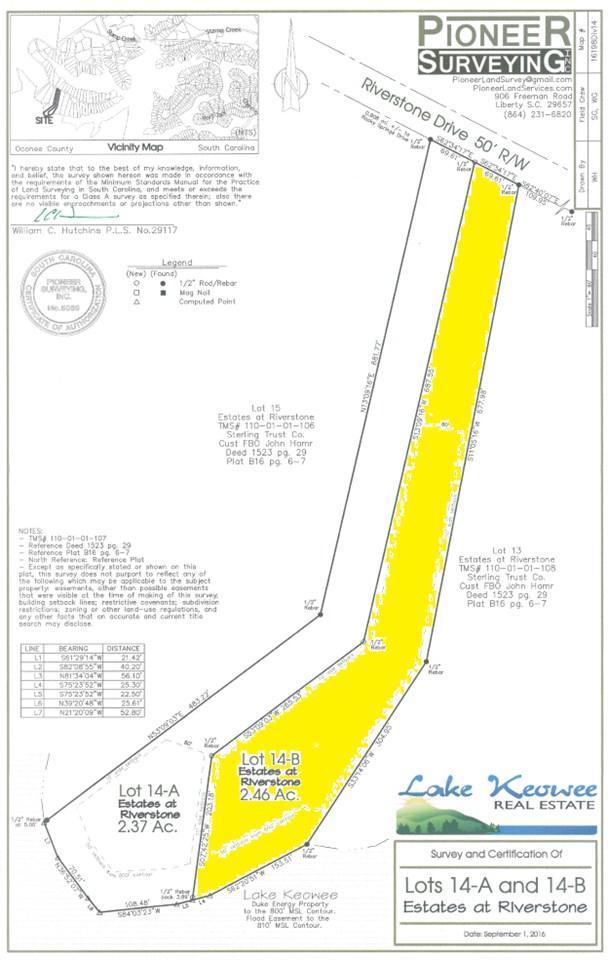Lot 14 B Estates At Riverstone, Salem, SC 29676 (MLS #20179339) :: Les Walden Real Estate