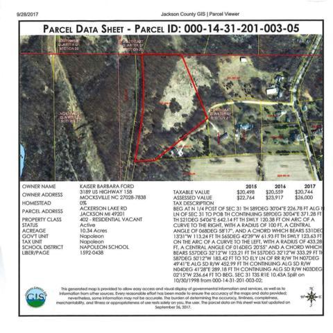0 Elderberry Lane, Jackson, MI 49201 (MLS #3260344) :: Berkshire Hathaway HomeServices Snyder & Company, Realtors®
