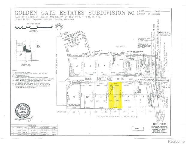 0 Golden Gate Boulevard, Grand Blanc, MI 48439 (MLS #R2200041571) :: Berkshire Hathaway HomeServices Snyder & Company, Realtors®