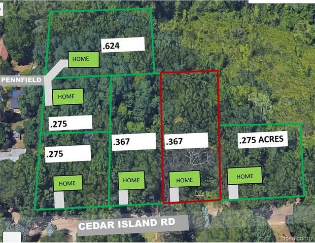 0 Cedar Island Rd, White Lake, MI 48386 (MLS #R2210035718) :: Berkshire Hathaway HomeServices Snyder & Company, Realtors®