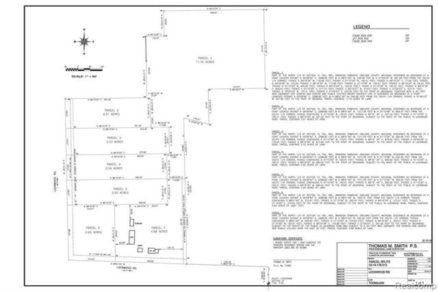 557 Lockwood Parcel 5 Rd, Ortonville, MI 48462 (MLS #R219044671) :: The Toth Team