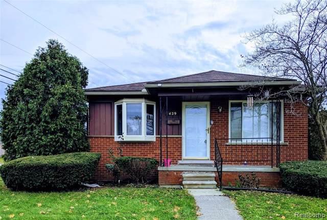 429 Highland Ave, Lincoln Park, MI 48146 (MLS #R2200006079) :: Berkshire Hathaway HomeServices Snyder & Company, Realtors®