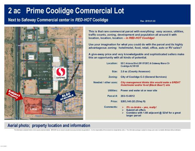 0 N Arizona Boulevard, Coolidge, AZ 85128 (MLS #5870881) :: Revelation Real Estate