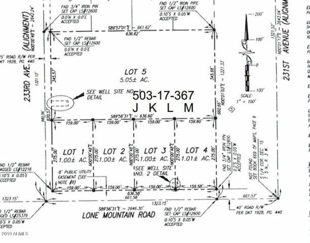 23222 W Lone Mountain  Lot 3 Road, Wittmann, AZ 85361 (MLS #5950595) :: The Bill and Cindy Flowers Team