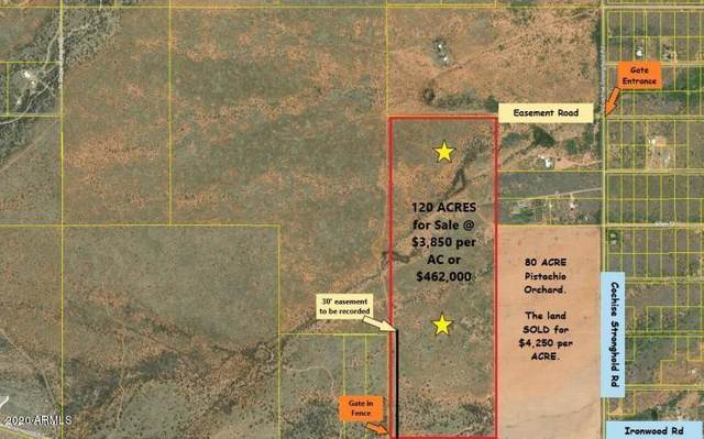 120 Ac On Ironwood Road, Cochise, AZ 85606 (MLS #6147051) :: The Daniel Montez Real Estate Group