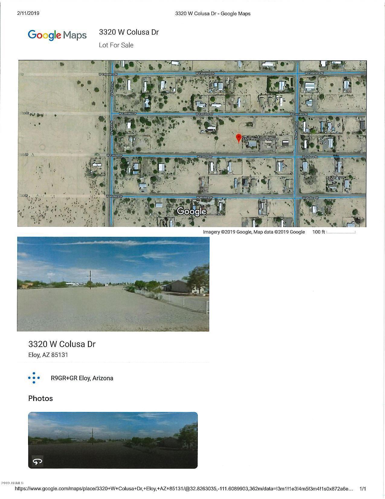 Map Of Eloy Arizona.3320 W Colusa Drive Eloy Az 85131 Mls 5881664 Keller Williams Realty Phoenix