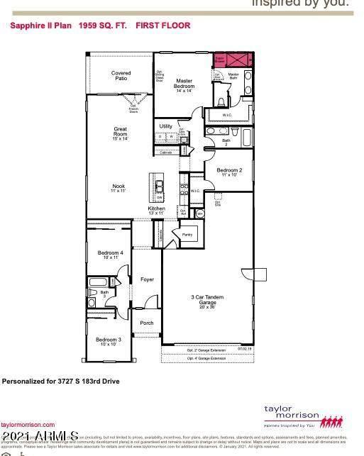 3727 S 183RD Drive, Goodyear, AZ 85338 (MLS #6180628) :: Kepple Real Estate Group