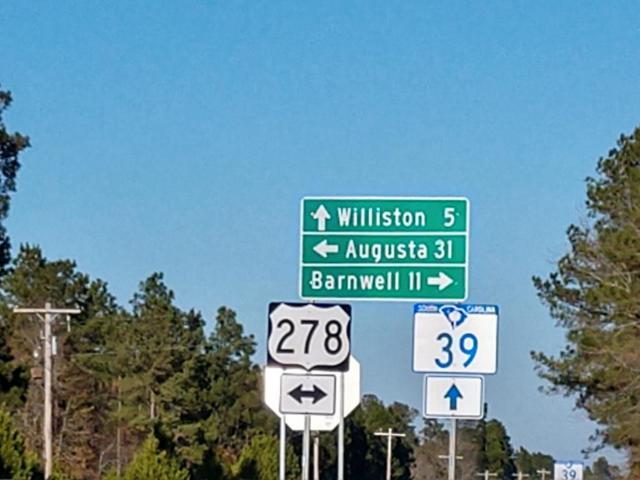 corner Hwy 278, Williston, SC 29853 (MLS #438028) :: Shannon Rollings Real Estate