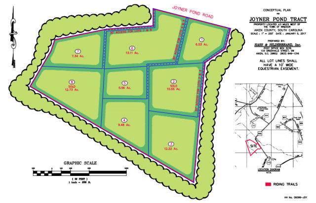 Lot 1 Joyner Pond Road, Aiken, SC 29803 (MLS #446301) :: REMAX Reinvented | Natalie Poteete Team