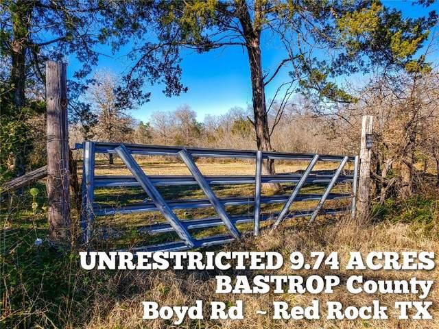 9.74-ac Boyd Rd, Red Rock, TX 78662 (#4469093) :: Green City Realty