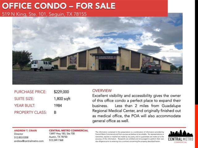 519 N King St #101, Seguin, TX 78155 (#5620867) :: Papasan Real Estate Team @ Keller Williams Realty