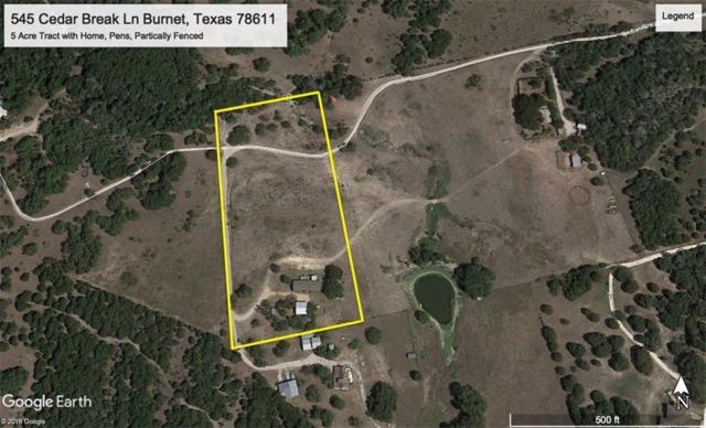 545 Cedar Break Ln, Burnet, TX 78611 (#5974220) :: The Heyl Group at Keller Williams