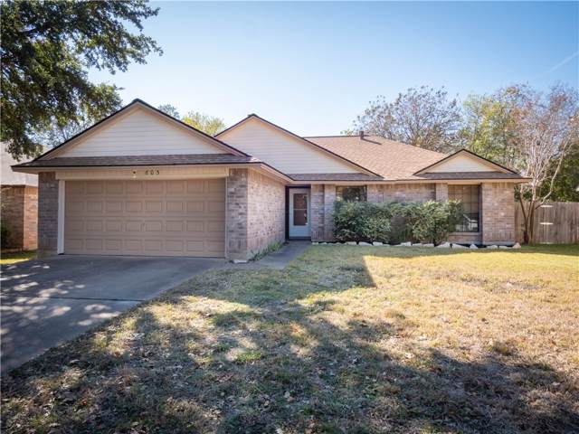 603 Eaglecreek Dr, Leander, TX 78641 (#8837377) :: The Perry Henderson Group at Berkshire Hathaway Texas Realty