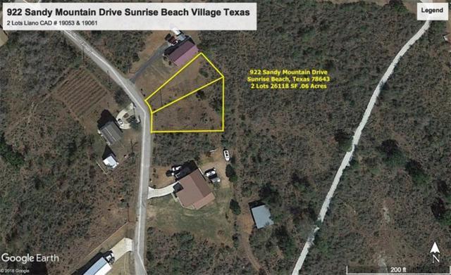 922 Sandy Mountain Dr, Sunrise Beach, TX 78643 (#9904609) :: Douglas Residential