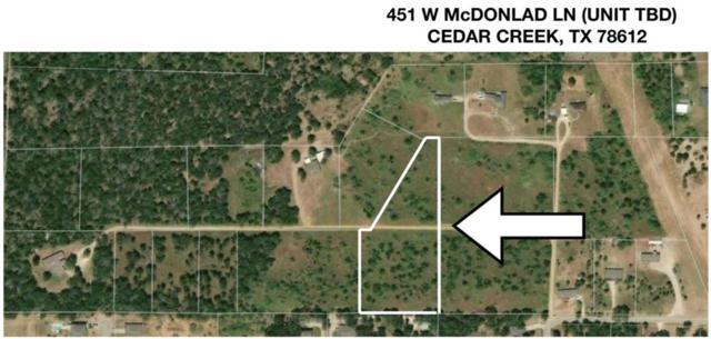 TBD Mcdonald Ln, Cedar Creek, TX 78612 (#4350098) :: The Heyl Group at Keller Williams