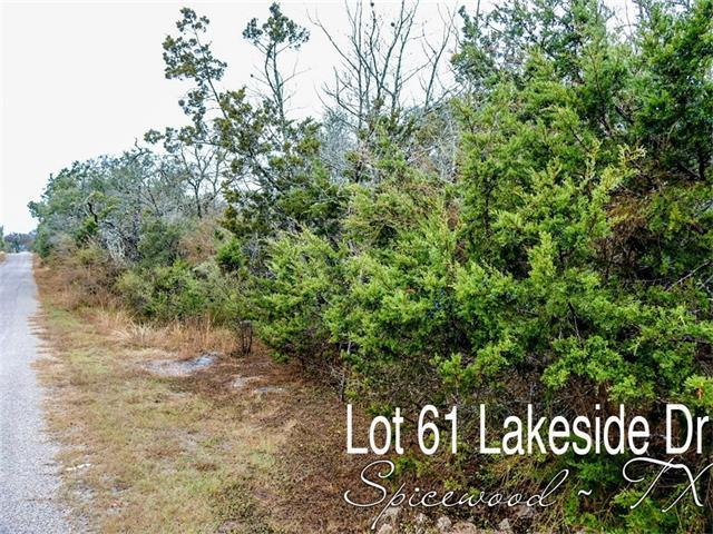 Lot 61 Lakeside Dr, Spicewood, TX 78669 (#8085746) :: The ZinaSells Group