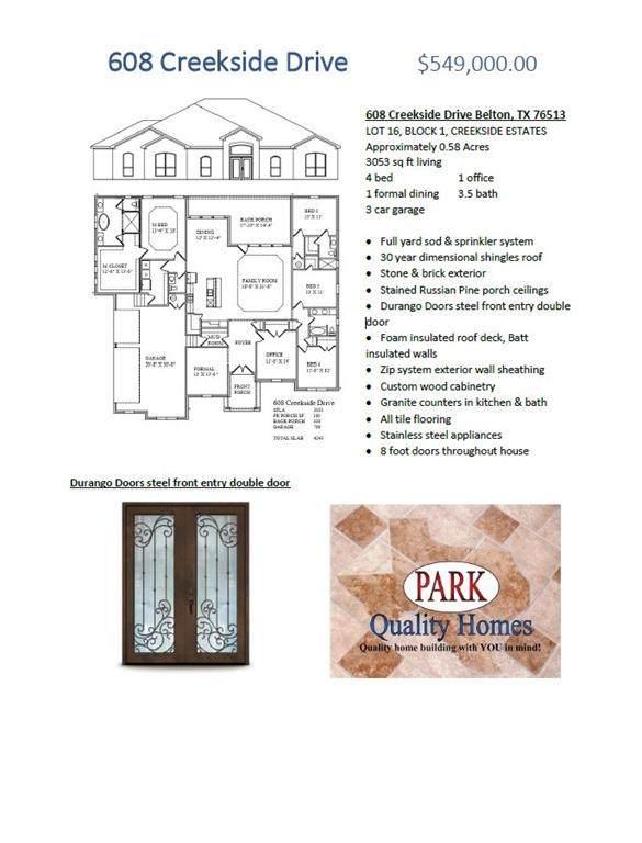 608 Creekside Dr, Belton, TX 76513 (#9923891) :: Watters International