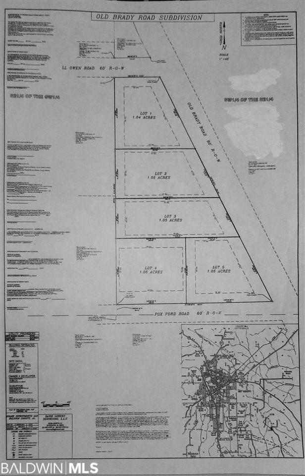 0 Old Brady Road, Bay Minette, AL 36507 (MLS #311179) :: Bellator Real Estate and Development
