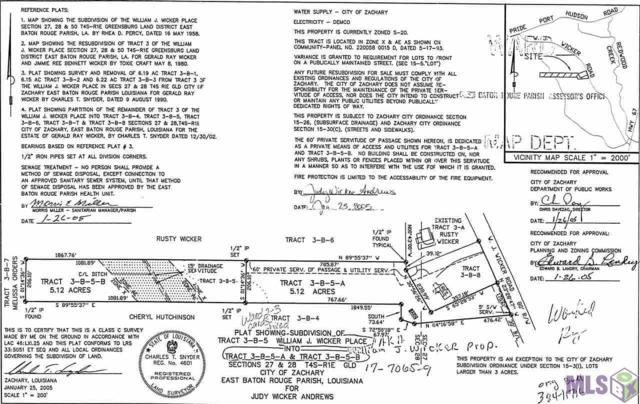 TBD Wj Wicker Rd, Zachary, LA 70791 (#2019004499) :: Patton Brantley Realty Group