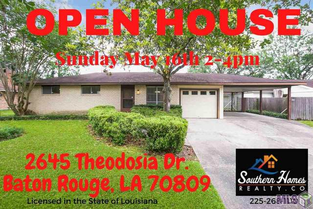 2645 Theodosia Dr, Baton Rouge, LA 70809 (#2021007391) :: Smart Move Real Estate
