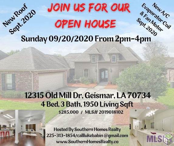 12315 Old Mill Dr, Geismar, LA 70734 (#2019018102) :: Patton Brantley Realty Group