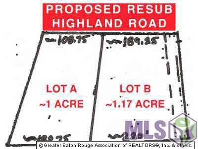 LOT A Highland Rd, Baton Rouge, LA 70810 (#2018005600) :: Patton Brantley Realty Group