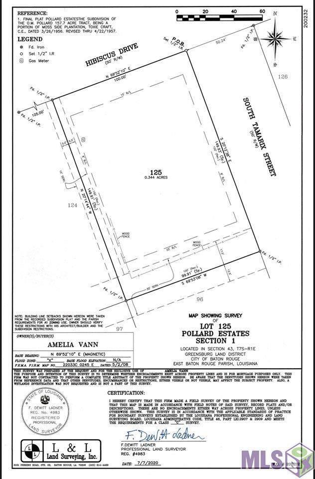 Lot 125 Hibiscus Dr, Baton Rouge, LA 70808 (#2021007014) :: Darren James & Associates powered by eXp Realty