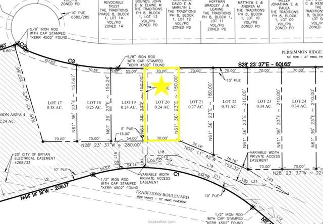 Lot 20 Persimmon Ridge Court, Bryan, TX 77807 (MLS #20016819) :: The Lester Group