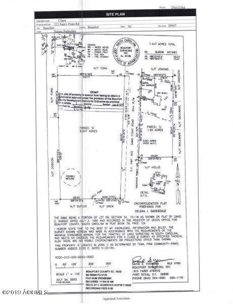 323 Sams Point Road, Beaufort, SC 29907 (MLS #164148) :: RE/MAX Island Realty