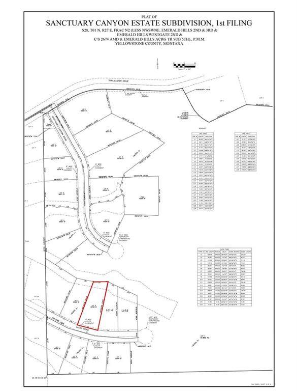 Lot 3 Blk 3 Lacey Rd, Billings, MT 59101 (MLS #301232) :: Search Billings Real Estate Group
