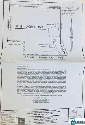 250 Co Rd 746 8.8 Acres, Jemison, AL 35085 (MLS #883156) :: Josh Vernon Group