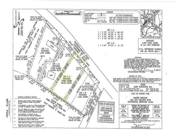Lot 1-C Halifax Bailey Rd, Scottsville, KY  (MLS #20210605) :: Reesy Real Estate Team | Keller Williams First Choice Realty