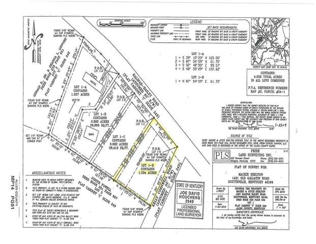 Lot 1-D Halifax Bailey Rd, Scottsville, KY  (MLS #20210606) :: Reesy Real Estate Team | Keller Williams First Choice Realty