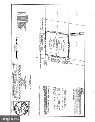 1229 Bancroft Lot 11-C Avenue, COLONIAL BEACH, VA 22443 (#1000026135) :: Jennifer Mack Properties