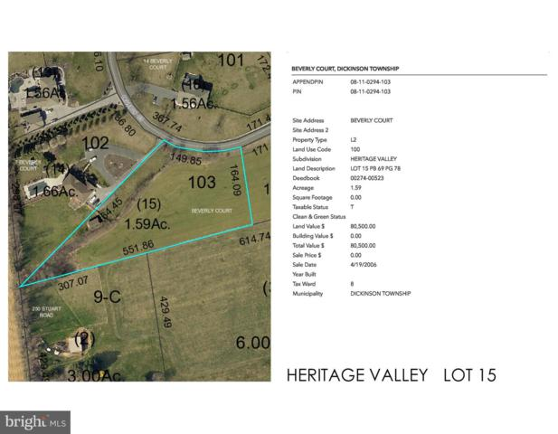 Heritage Valley - Beverly Court Lot 15, CARLISLE, PA 17015 (#PACB109774) :: The Heather Neidlinger Team With Berkshire Hathaway HomeServices Homesale Realty