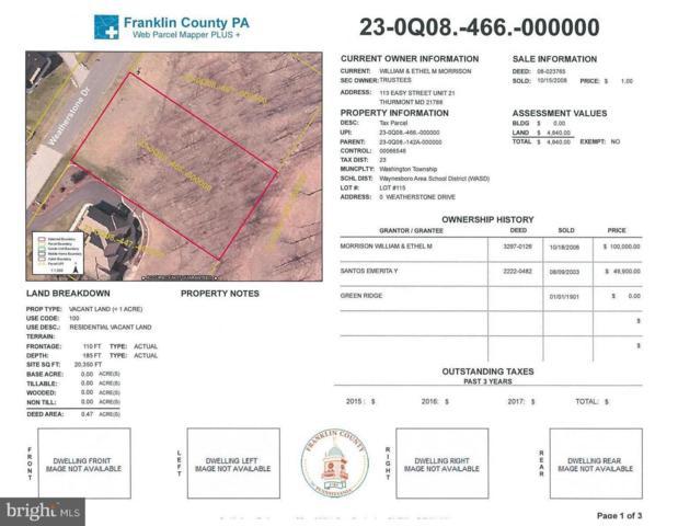 Weatherstone Drive, WAYNESBORO, PA 17268 (#PAFL161308) :: Liz Hamberger Real Estate Team of KW Keystone Realty