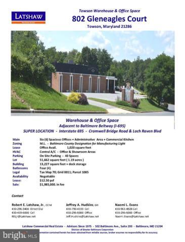 802 Gleneagle Court, TOWSON, MD 21286 (#MDBC454396) :: The Miller Team