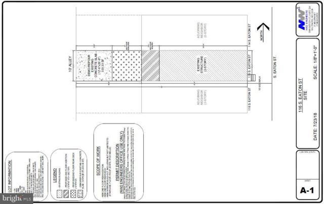 116 S Eaton Street, BALTIMORE, MD 21224 (#MDBA465114) :: The Licata Group/Keller Williams Realty